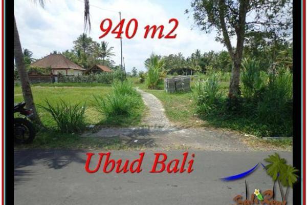 940 m2 LAND IN UBUD BALI FOR SALE TJUB531