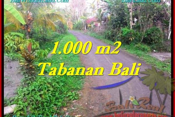 Magnificent TABANAN BALI 1,000 m2 LAND FOR SALE TJTB242
