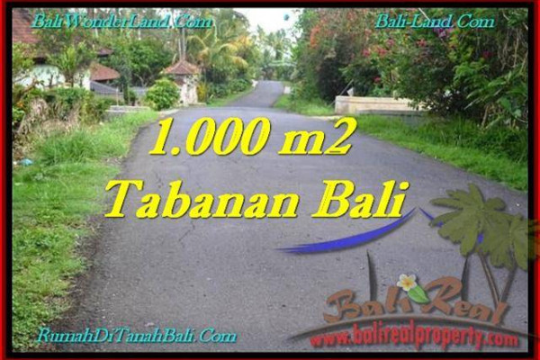 Beautiful 1,000 m2 LAND SALE IN TABANAN BALI TJTB243