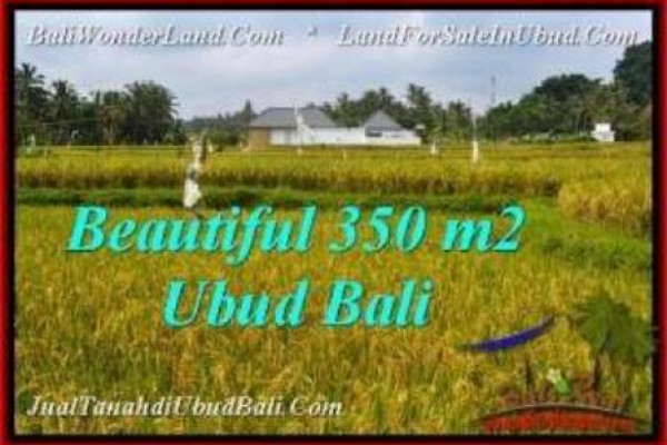 Exotic 350 m2 LAND SALE IN UBUD BALI TJUB540