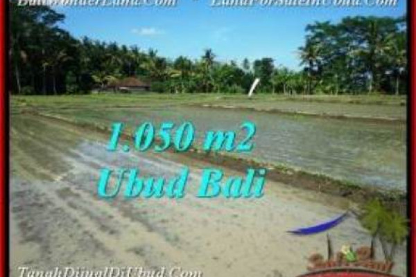 Exotic UBUD BALI 1,050 m2 LAND FOR SALE TJUB544