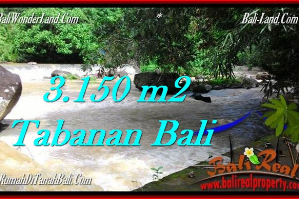 FOR SALE Magnificent 3,150 m2 LAND IN TABANAN BALI TJTB282
