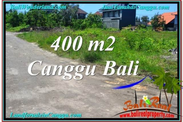 Beautiful PROPERTY 400 m2 LAND SALE IN CANGGU BALI TJCG202