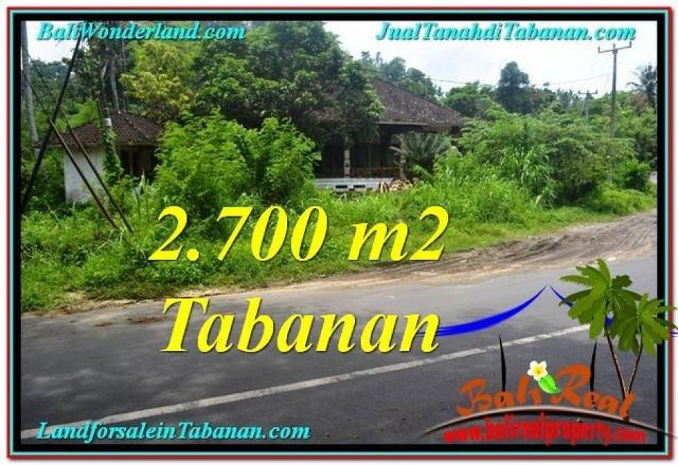 Magnificent PROPERTY 2,700 m2 LAND FOR SALE IN Tabanan Kerambitan TJTB299