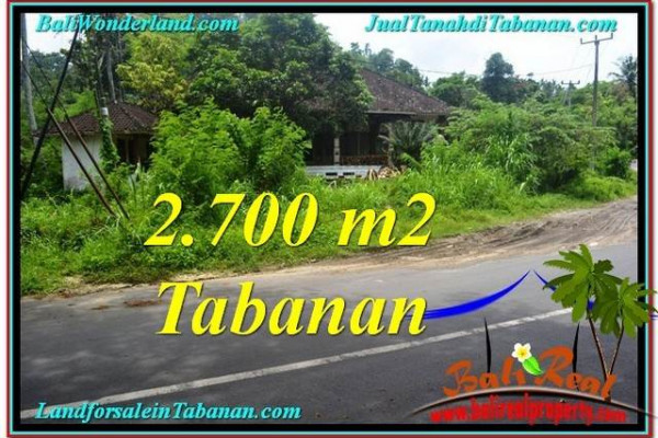 Beautiful PROPERTY 2,700 m2 LAND FOR SALE IN Tabanan Kerambitan TJTB299