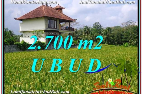 Magnificent PROPERTY 2,700 m2 LAND SALE IN Ubud Tegalalang TJUB595