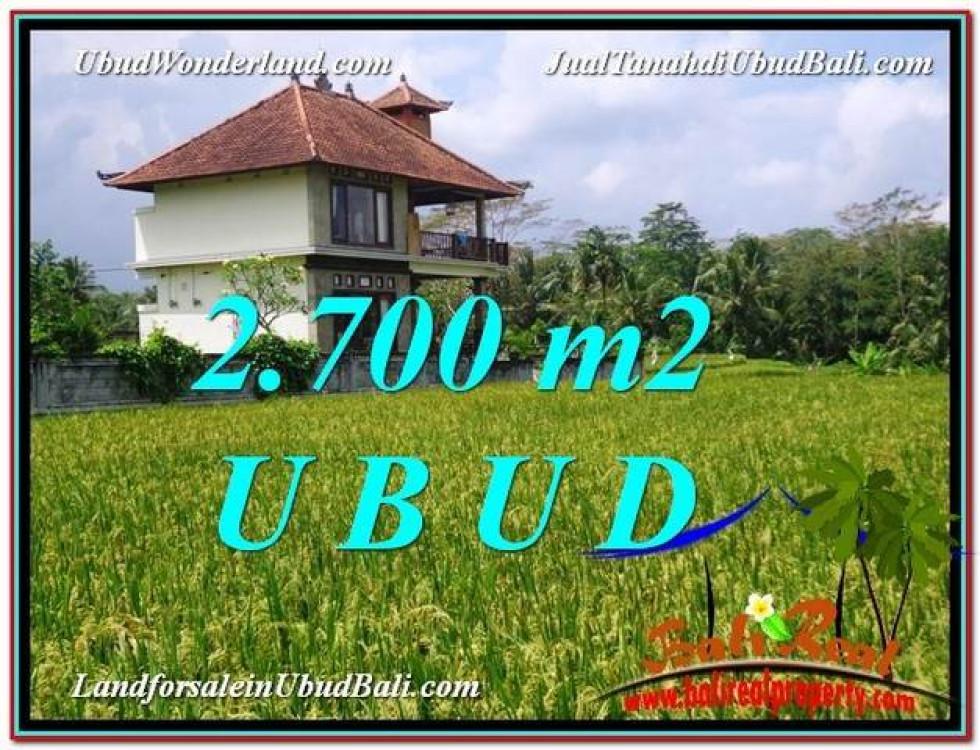 Magnificent PROPERTY 2,700 m2 LAND SALE IN Ubud Tegalalang TJUB595