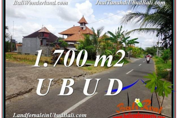 Beautiful PROPERTY 1,700 m2 LAND FOR SALE IN Sentral Ubud TJUB588