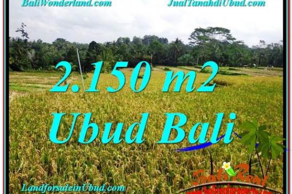 Beautiful 2,150 m2 LAND SALE IN UBUD TJUB606