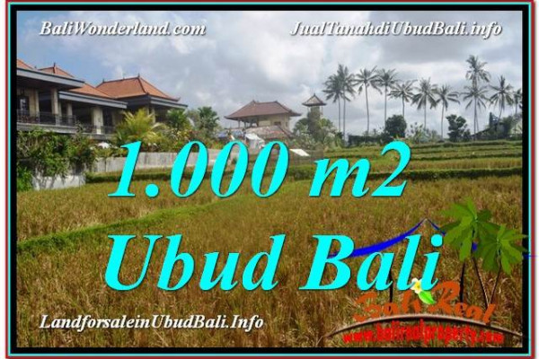 Exotic PROPERTY 1,000 m2 LAND SALE IN UBUD BALI TJUB618
