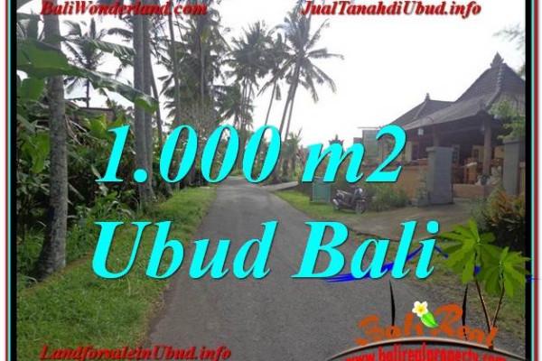 Affordable PROPERTY UBUD BALI 1,000 m2 LAND FOR SALE TJUB604