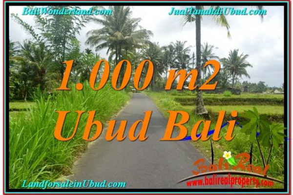Affordable PROPERTY UBUD BALI 1,000 m2 LAND FOR SALE TJUB634