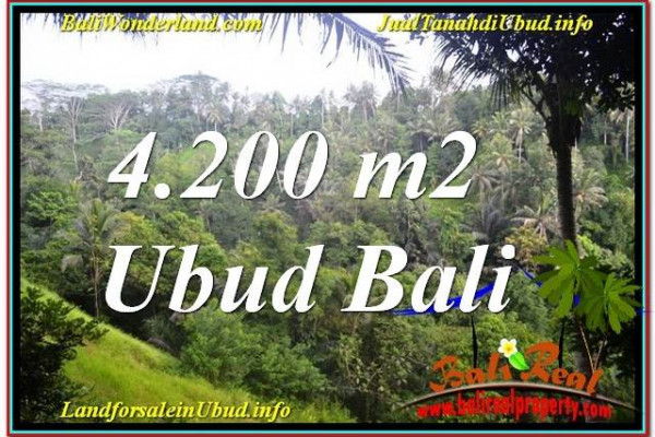 Exotic PROPERTY 4,200 m2 LAND FOR SALE IN Sentral / Ubud Center BALI