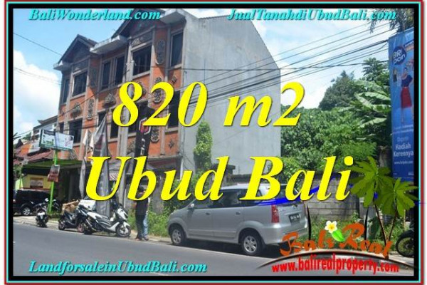 Exotic PROPERTY 820 m2 LAND FOR SALE IN Sentral / Ubud Center BALI TJUB643