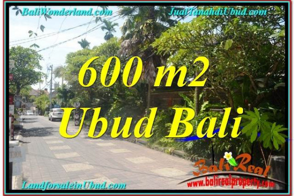 Exotic 600 m2 LAND IN UBUD BALI FOR SALE TJUB644
