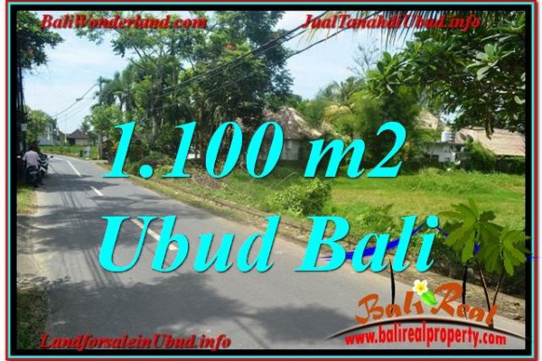 Exotic PROPERTY 1,100 m2 LAND FOR SALE IN Sentral / Ubud Center BALI TJUB645