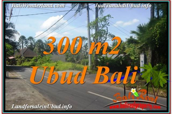 Beautiful PROPERTY Ubud BALI 300 m2 LAND FOR SALE TJUB646