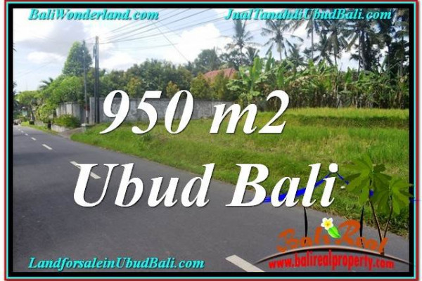 FOR SALE Affordable PROPERTY 950 m2 LAND IN UBUD BALI TJUB648