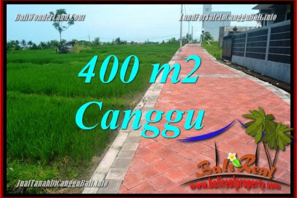 Beautiful CANGGU 400 m2 LAND FOR SALE TJCG219