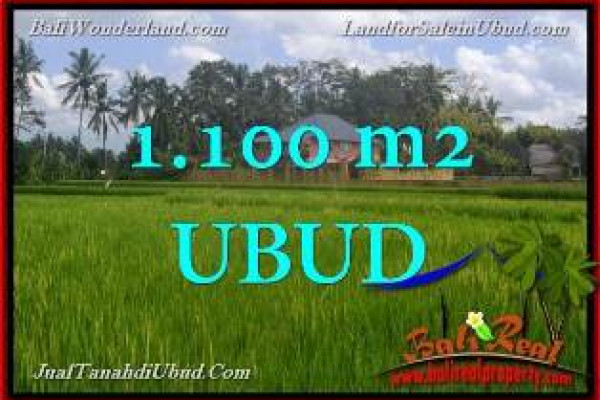 FOR SALE Beautiful 1,100 m2 LAND IN UBUD PEJENG BALI TJUB651