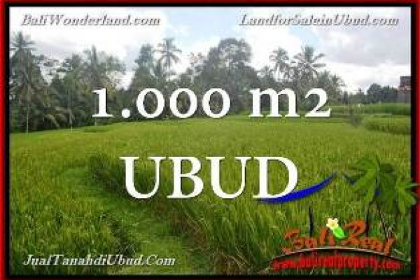 Exotic PROPERTY 1,000 m2 LAND IN UBUD FOR SALE TJUB653