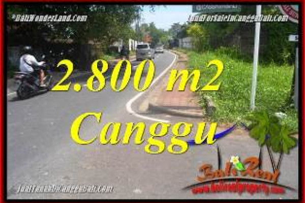 FOR SALE Exotic PROPERTY 2,800 m2 LAND IN CANGGU BALI TJCG223