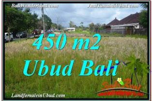 FOR SALE Magnificent PROPERTY 450 m2 LAND IN SENTRAL UBUD TJUB671