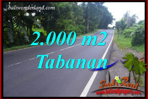 FOR sale 2,000 m2 Land in Tabanan Bali TJTB398