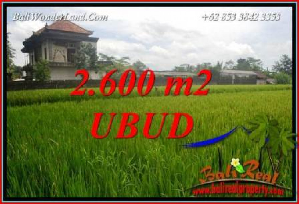 FOR sale Magnificent 2,600 m2 Land in Ubud Bali TJUB701