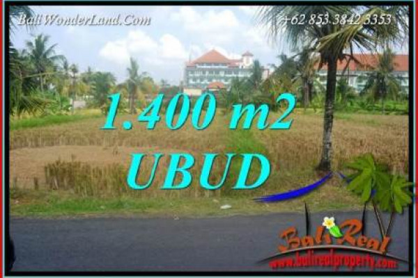 Exotic Property 1,400 m2 Land sale in Sentral Ubud Bali TJUB709