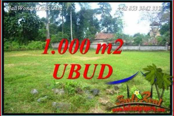 Beautiful 1,000 m2 Land sale in Ubud Pejeng Bali TJUB728