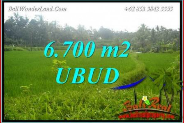 Exotic 6,700 m2 Land sale in Ubud Bali TJUB731