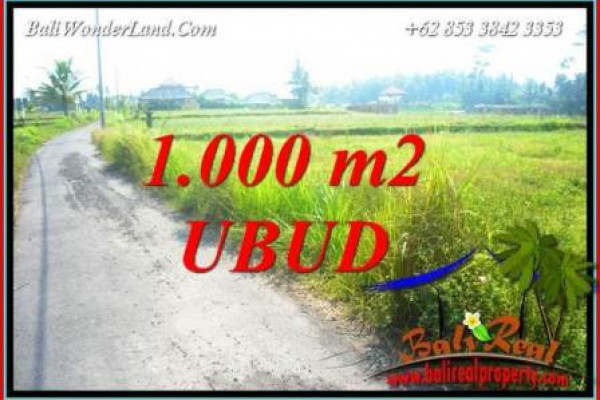 Beautiful 1,000 m2 Land for sale in Ubud Pejeng Bali TJUB739