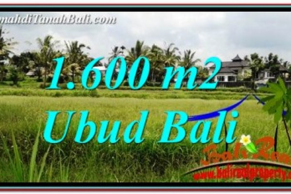 Affordable 1,600 m2 LAND SALE IN UBUD BALI TJUB756