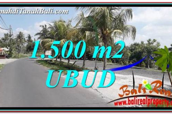 Affordable PROPERTY 1,500 m2 LAND SALE IN Ubud Gianyar TJUB758
