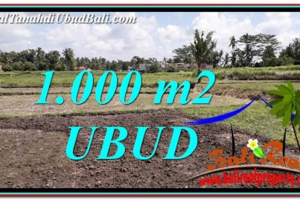 Exotic PROPERTY 1,000 m2 LAND SALE IN Sentral Ubud TJUB765