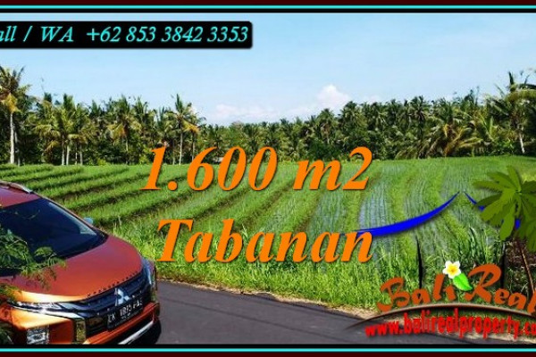 Exotic PROPERTY 1,600 m2 LAND IN TABANAN FOR SALE TJTB471