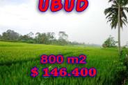 Land for sale in Ubud Bali 800 sqm in Ubud Tegalalang – TJUB212