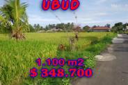 Land for sale in Ubud Bali 1.100 m2 in Ubud Center