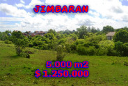 Jimbaran Land sale 5,000 m2 with Hill view – TJJI025