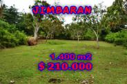 Land for sale in Jimbaran 1,400 sqm with Close to Pecatu Graha  – TJJI016