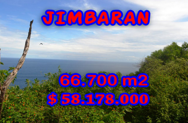 Attractive Property for sale in Bali, Jimbaran land for sale – 66.700 m2 @ $ 872