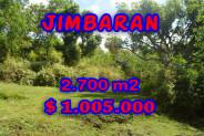 Exotic Property in Bali, Land for sale in Jimbaran Bali – 2.700 sqm @ $ 372