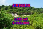 Land for sale in Bali, Extraordinary view in Jimbaran Bali – 1.600 sqm @ $ 539