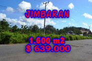 Attractive Property in Bali, Land sale in Jimbaran Bali – 1.620 sqm @ $ 394