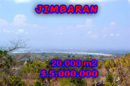 Land for sale in Bali, Unbelievable view in Jimbaran Bali – 20.000 sqm @ $ 250