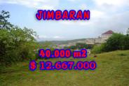 Land for sale in Bali Indonesia, Amazing view in Jimbaran Bali – 40.000 m2 @ $ 317