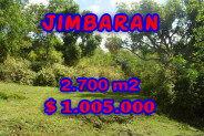 Fantastic Property in Bali, Land for sale in Jimbaran Bali – 2.700 m2 @ $ 372