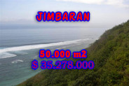 Land for sale in Bali Indonesia, Eye-catching view in Jimbaran Bali – 50.000 m2 @ $ 706