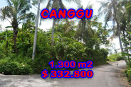 Land for sale in Bali, Exceptional view in Canggu Bali – 1.300 m2 @ $ 256